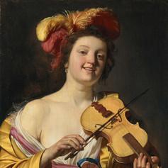 1626 - The Violin Player by Gerrit van Honthorst