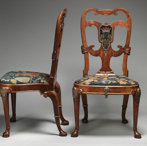Pair of side chairs ca. 1724–36 Attributed to Thomas How (British)