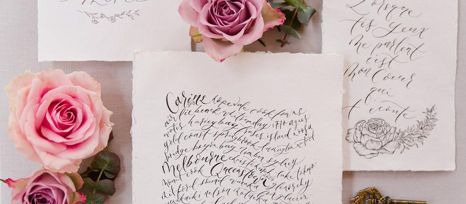 What is Wedding Calligraphy?
