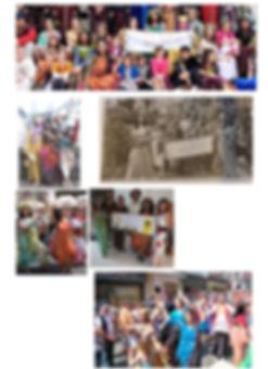 L'association lors du défilé des médiévales de Bayeux