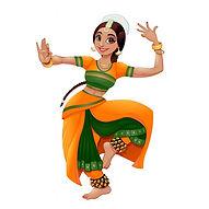 vecteur-bande-dessinee-danseuse-indienne