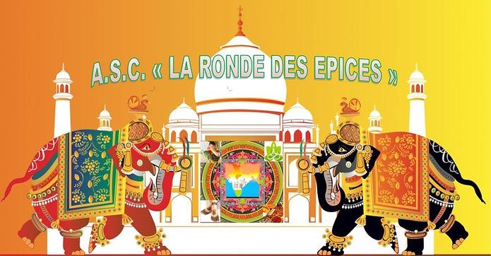 Bannière d'accueil de l'association La Ronde des Epices