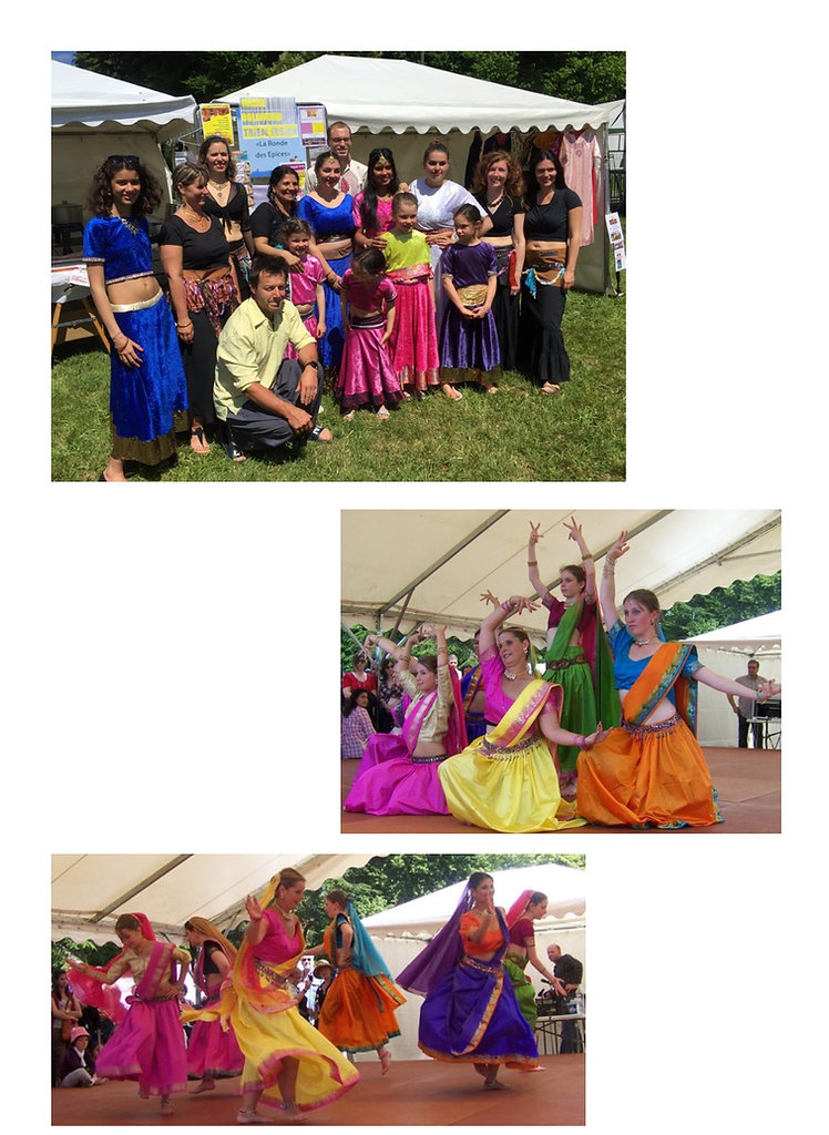 La troupe en spectacle au festival Beauregard à Hérouville Saint-Clair