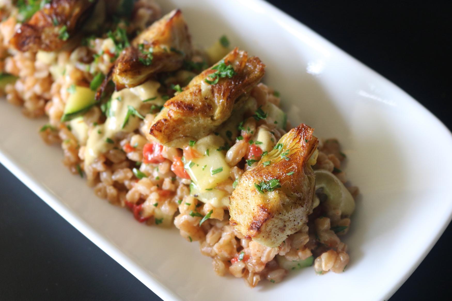 Mincey_ Crispy Artichoke and Farro Salad