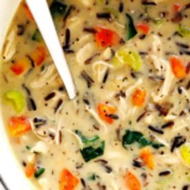 Recipe: Wild Rice & Herb Chicken Soup!