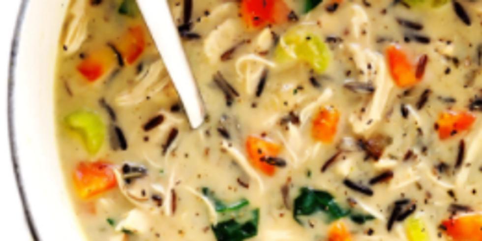 12/6 (PM) Wild Rice & Chicken Soup !!