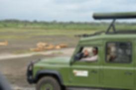 Owner Deus leading a safari.