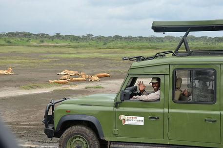 Owner Deus leading a safari.