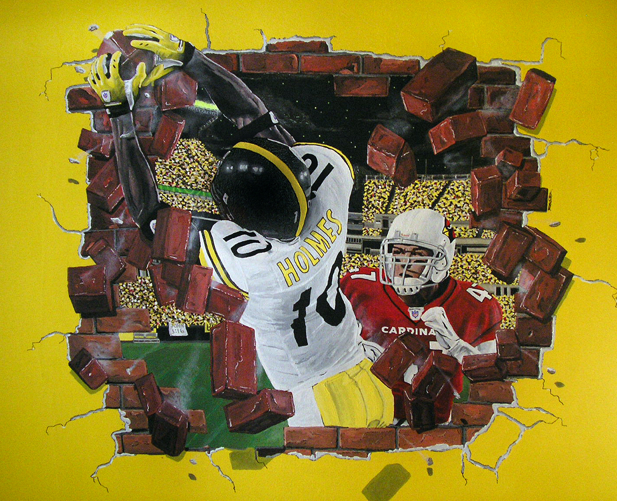 The Pittsburg Steelers Mural
