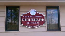 Dr. Reiber DMD Dentistry Sign Design