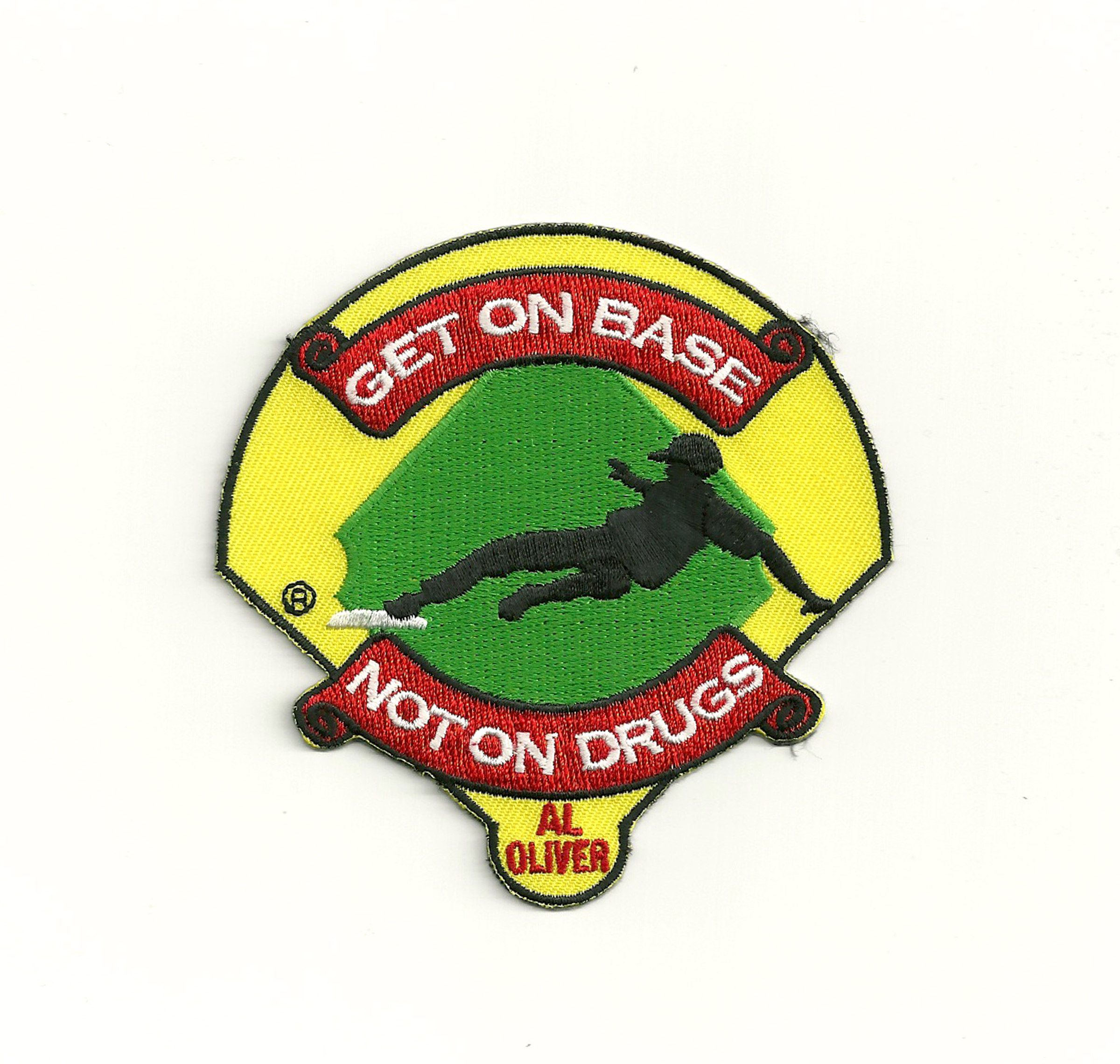 Get On Base Not On Drugs Little League Patch