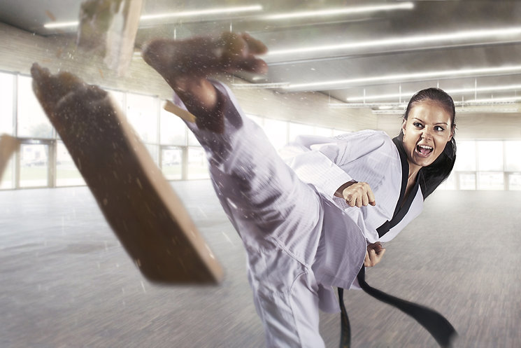 Applying focus and power (Martial arts).