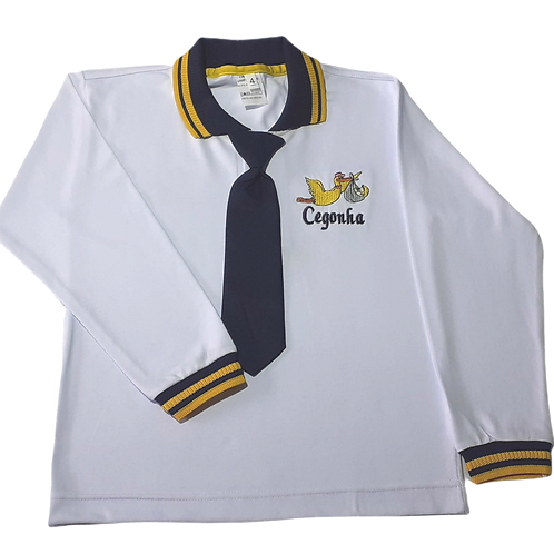 Camiseta Polo Manga Longa Masculina Cegonha
