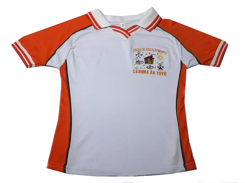 Camiseta Polo V Manga Curta Casinha da Vovó