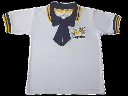 Camiseta Polo Manga Curta Feminina Cegonha