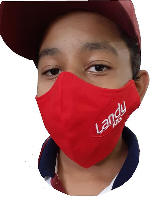 Máscara vermelha