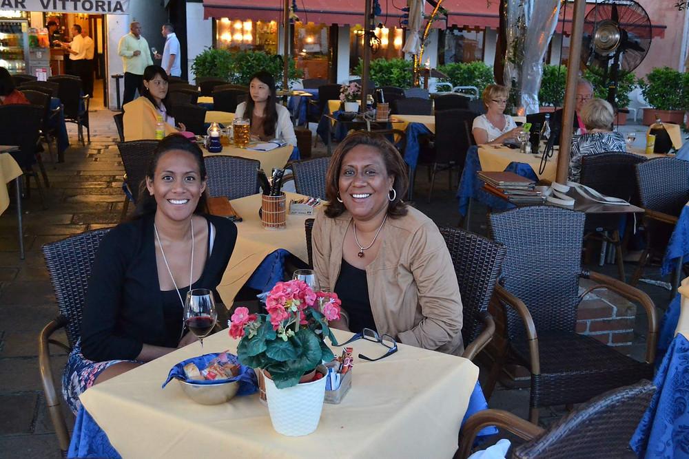 Fijian In The UK - Sainimili Kata with her Mom in Venice, July 2014