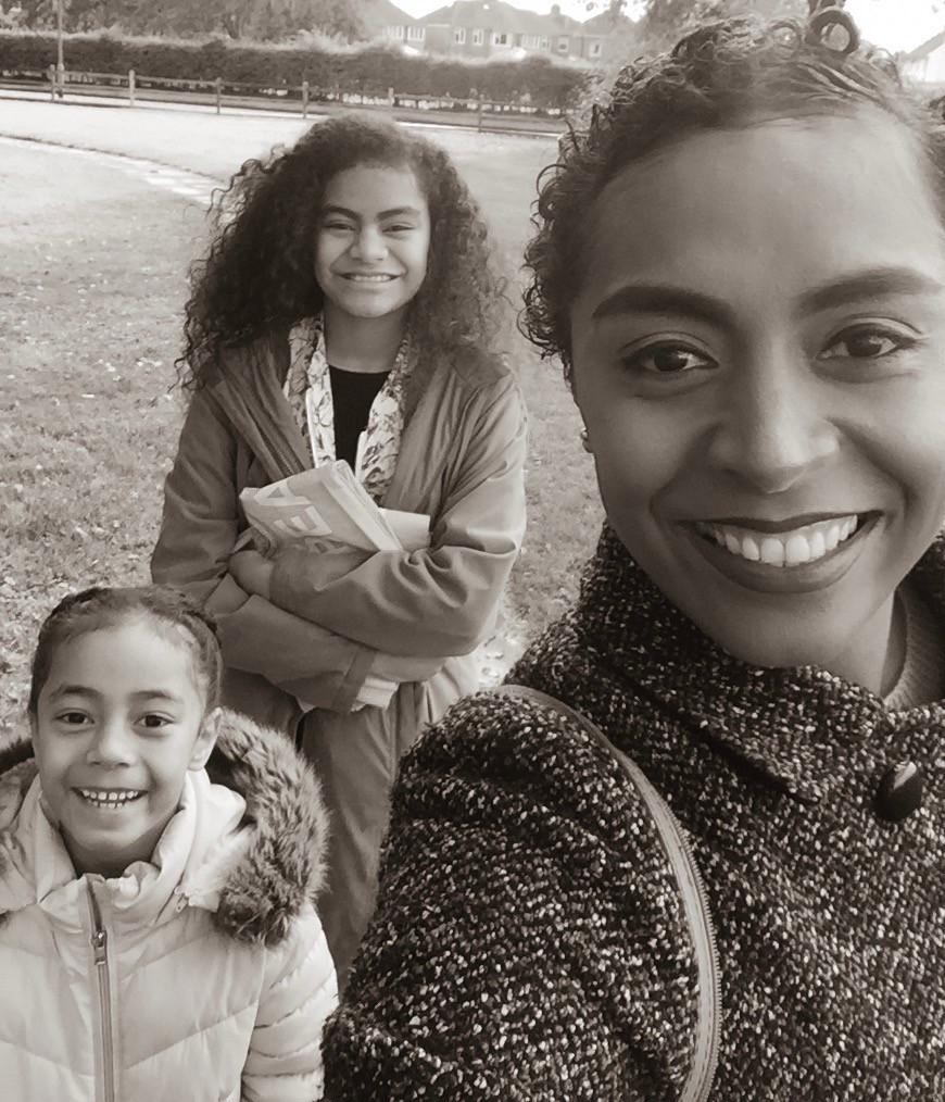 Fijian In The Uk with her children