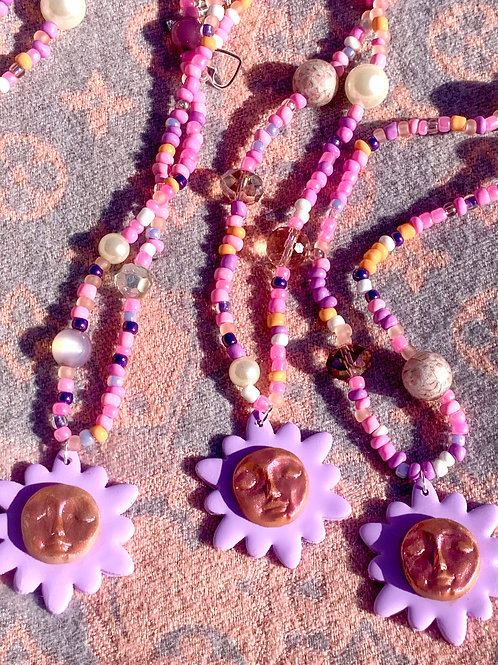 Bloom baby beaded necklace [Shorter]