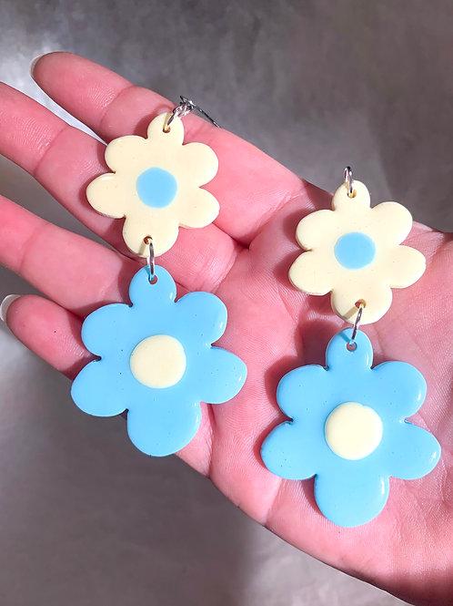 Wonky fleurz: vanilla + blue
