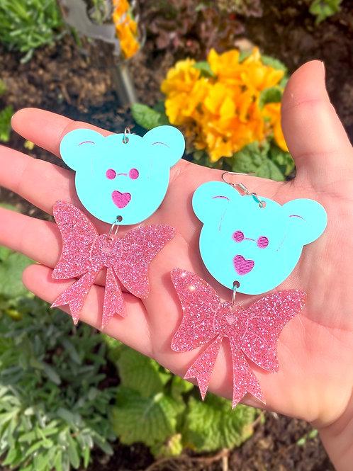 Beanie bear boo: glitter bow