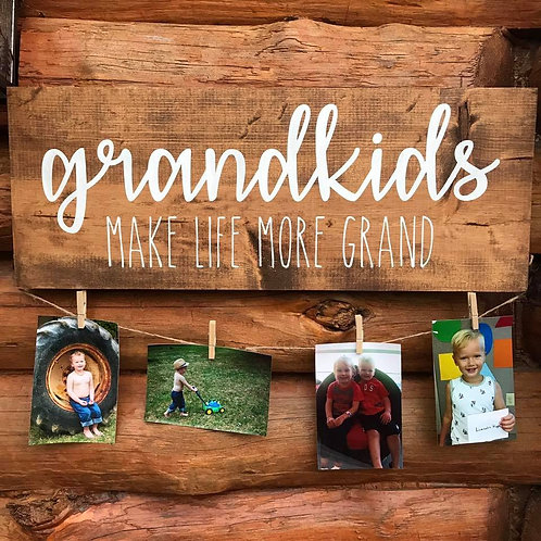 Grandkids Photo Display