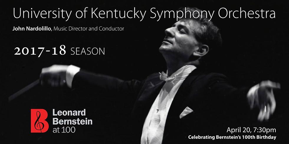 University of Kentucky Symphony Orchestra, Season Finale: Bernstein at 100