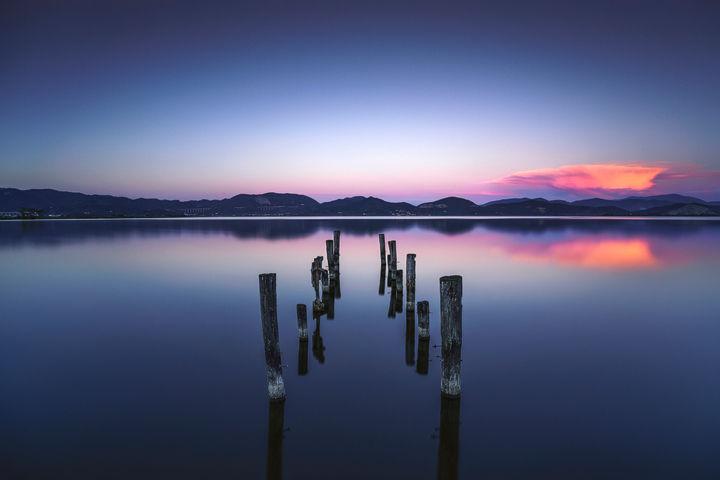 Pier Remains Twilight
