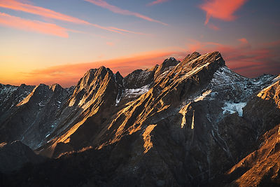 Red Sunset in Alpi Apuane