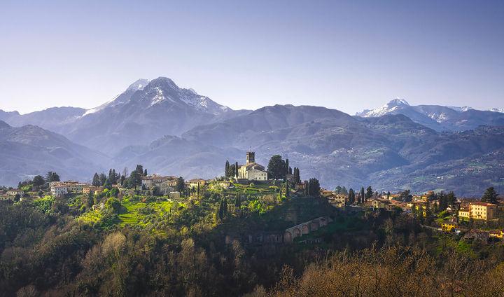 Barga and Alpi Apuane Panorama