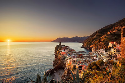 Vernazza and the Sun