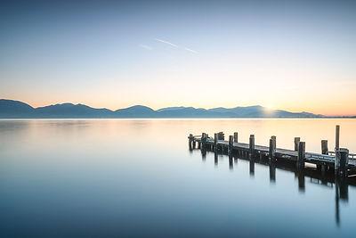 Wooden Pier at Sunrise