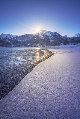 Last Light over Gramolazzo Iced Lake