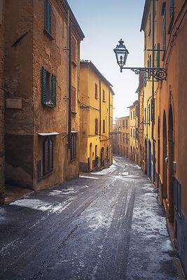Volterra Snowy Street
