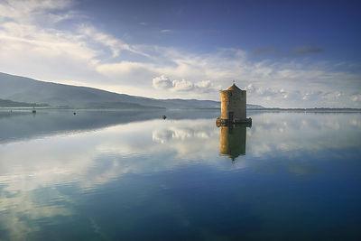 Spanish Windmill in Orbetello Lagoon