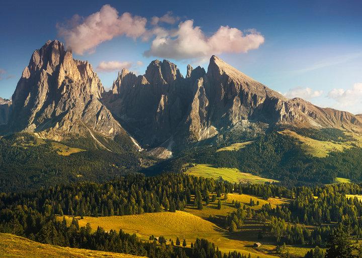 Sassolungo mountain. Dolomites