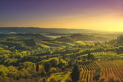 Panorama of San Gimignano countryside
