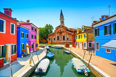 Burano Canal and Church