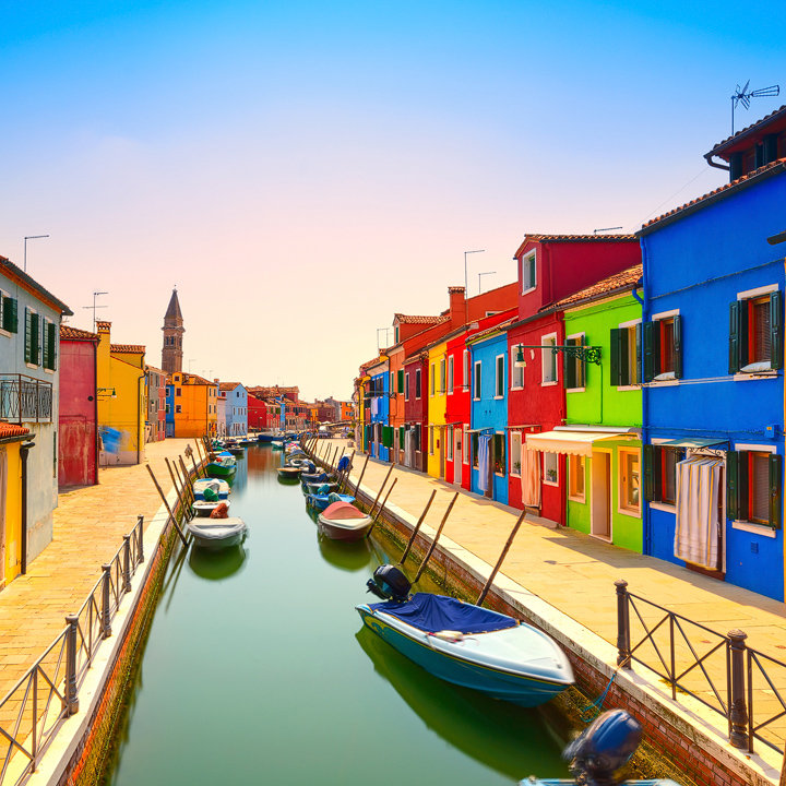 Burano Canal and Boats