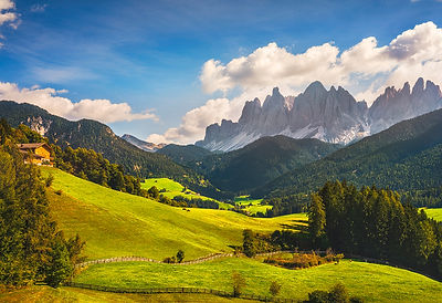 Funes Valley View and Odle Mountains