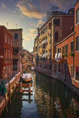 Red Canal in Venice