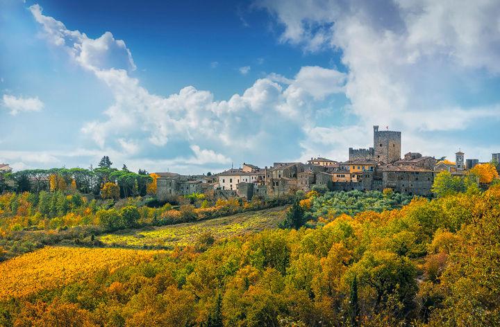 Castellina in Chianti and Autumn Foliage