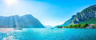 Lecco Panorama in Lake of Como