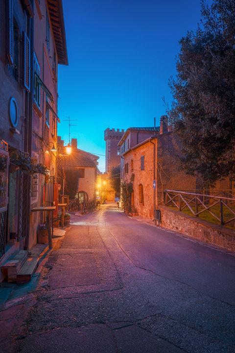 Blue Hour over Bolgheri Street