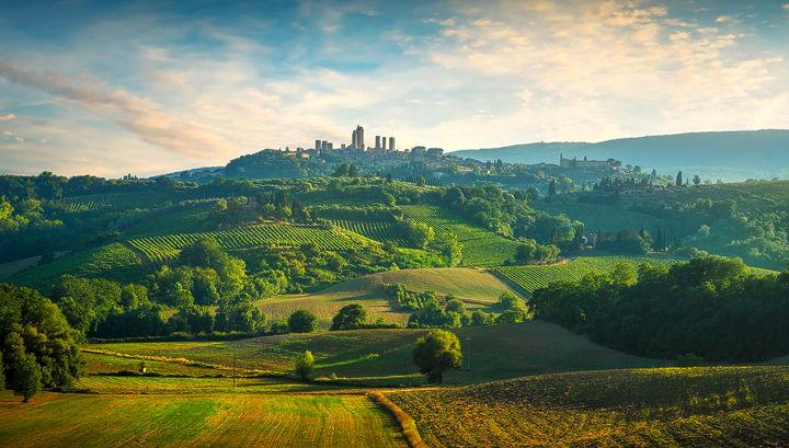 San Gimignano Countryside Panorama