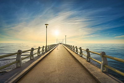 Pier of Forte dei Marmi at sunset