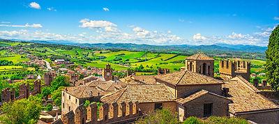 Gradara medieval village panoramic view