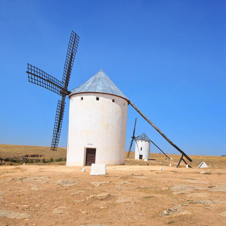 Two Windmills. Campo de Criptana, Spain