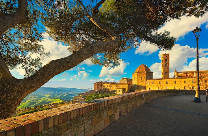 Volterra Skyline and a Tree