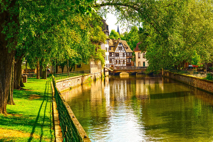 Petite France canal in Strasbourg